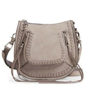 Rebecca Minkoff Small Vanity Saddle Bag in Gray